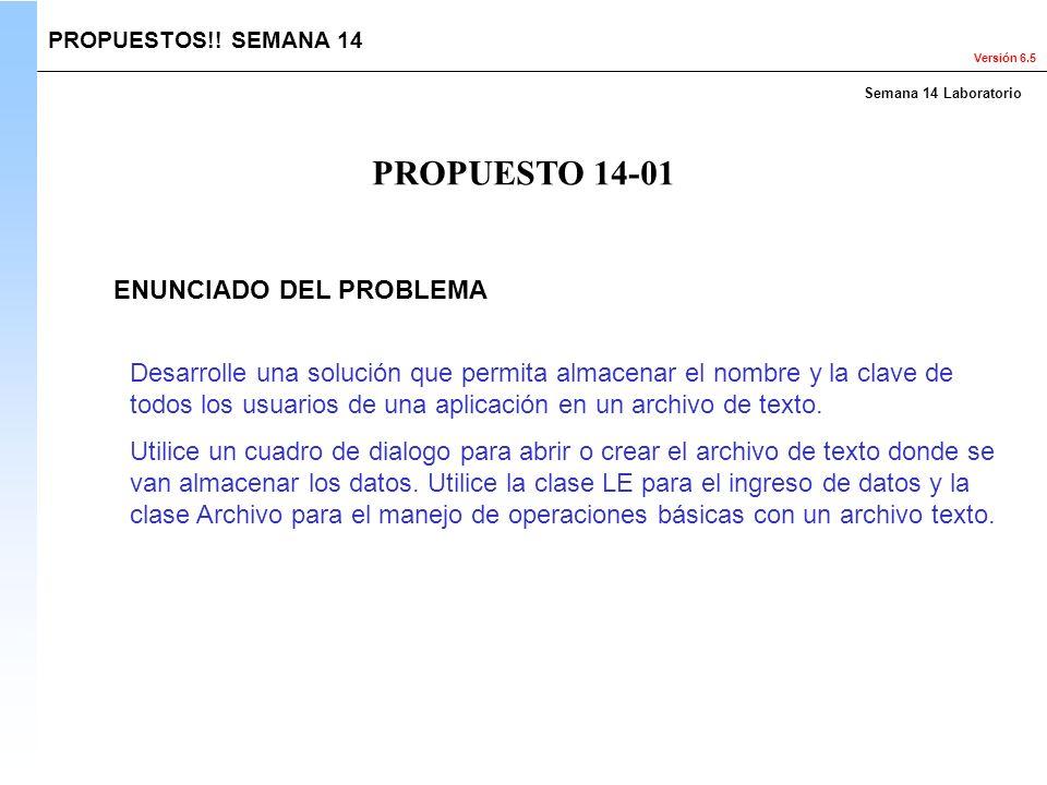 PROPUESTO 14-01 ENUNCIADO DEL PROBLEMA