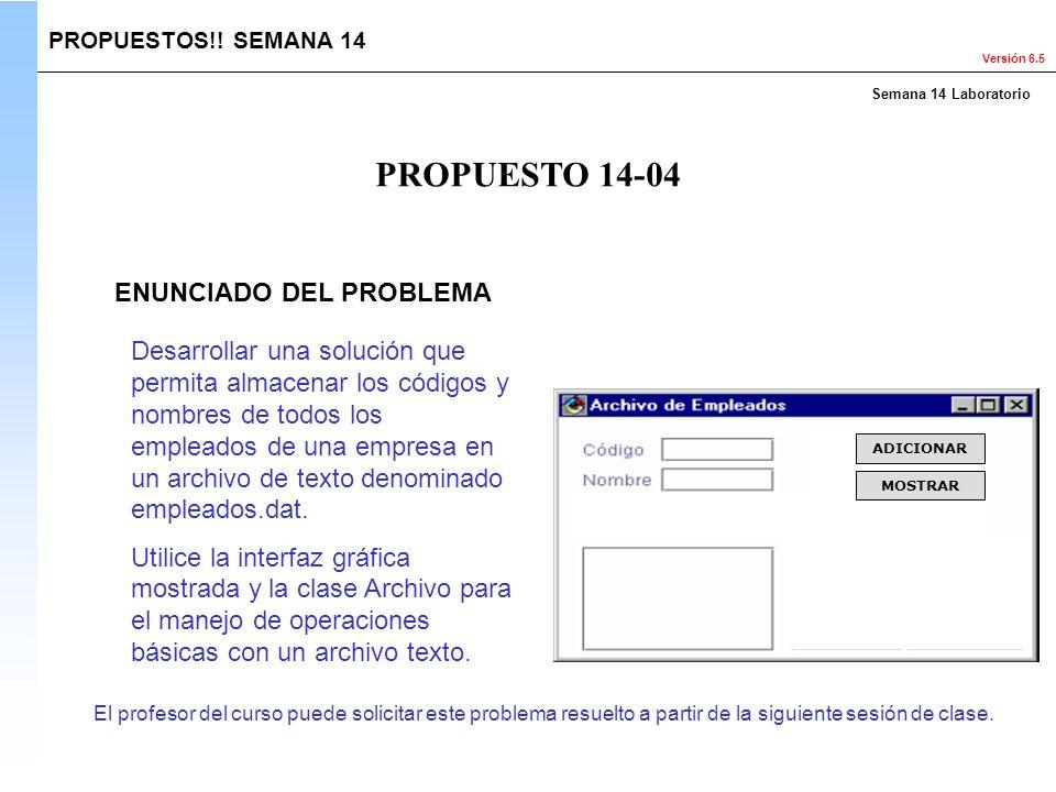 PROPUESTO 14-04 ENUNCIADO DEL PROBLEMA