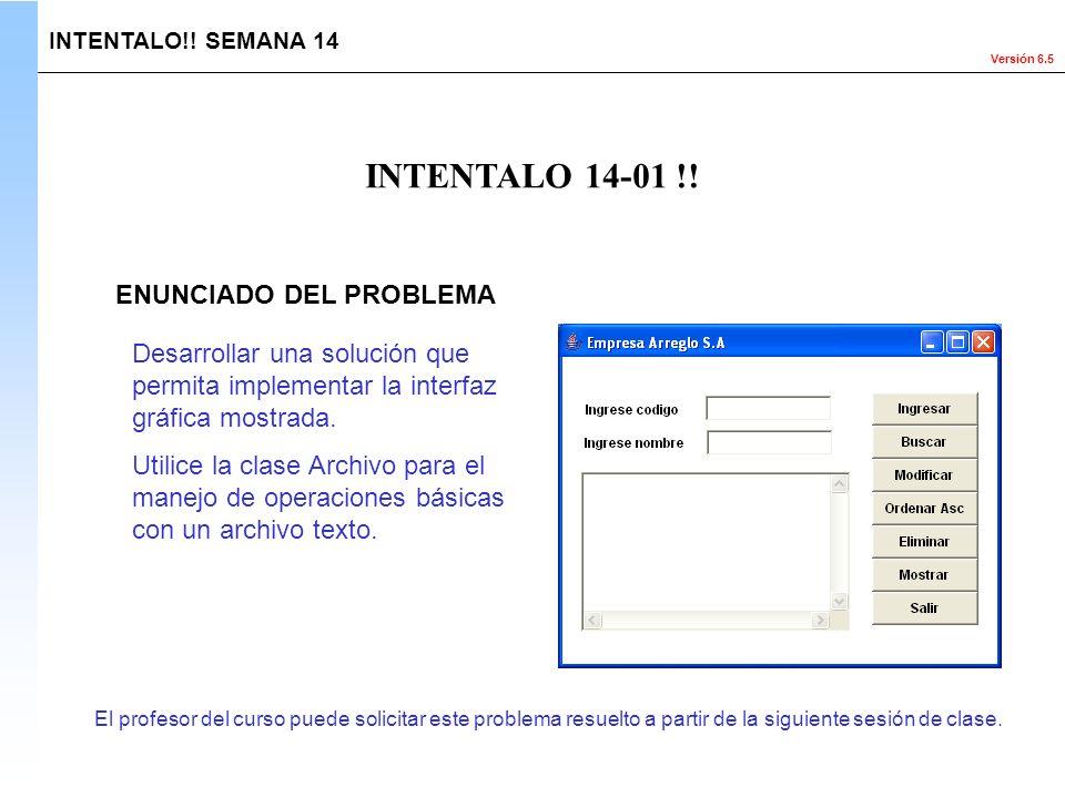 INTENTALO 14-01 !! ENUNCIADO DEL PROBLEMA