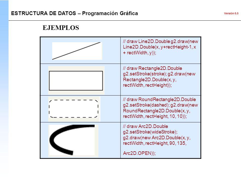 EJEMPLOS ESTRUCTURA DE DATOS – Programación Gráfica