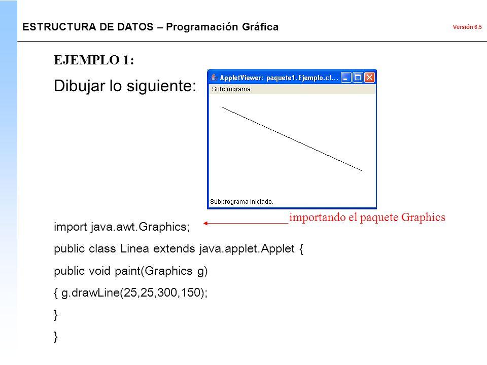 Dibujar lo siguiente: EJEMPLO 1: import java.awt.Graphics;