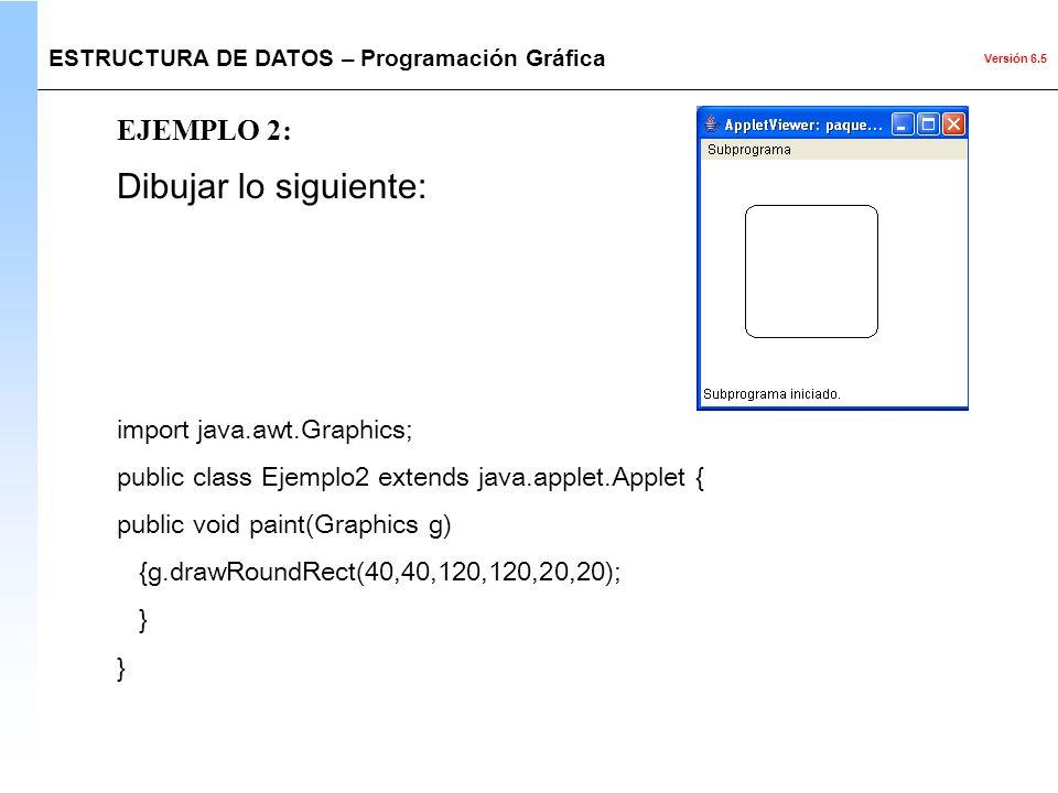 Dibujar lo siguiente: EJEMPLO 2: import java.awt.Graphics;