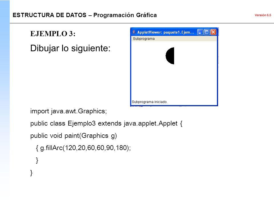 Dibujar lo siguiente: EJEMPLO 3: import java.awt.Graphics;