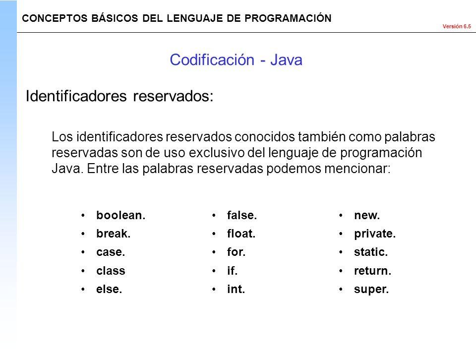 Identificadores reservados: