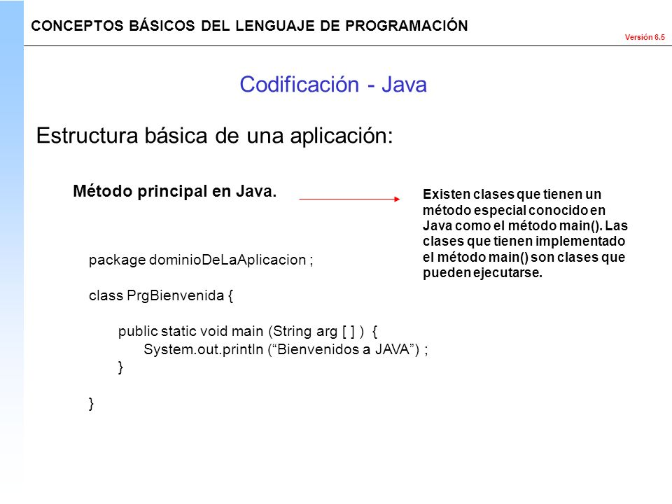 Estructura básica de una aplicación: