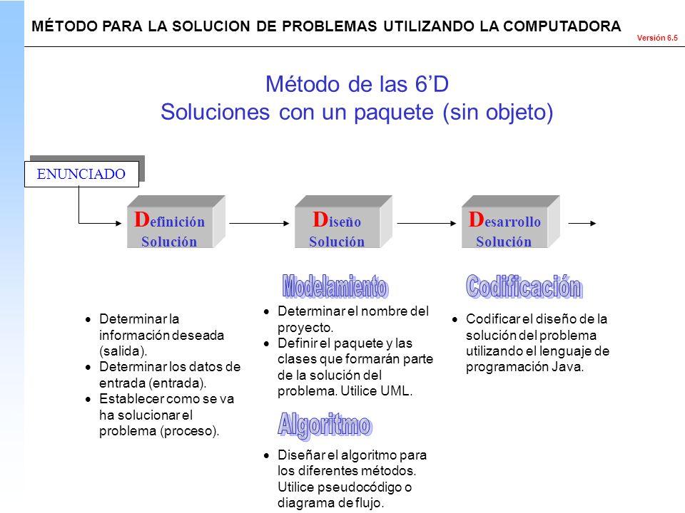 Soluciones con un paquete (sin objeto)