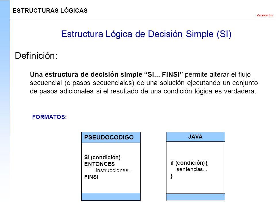 Estructura Lógica de Decisión Simple (SI)