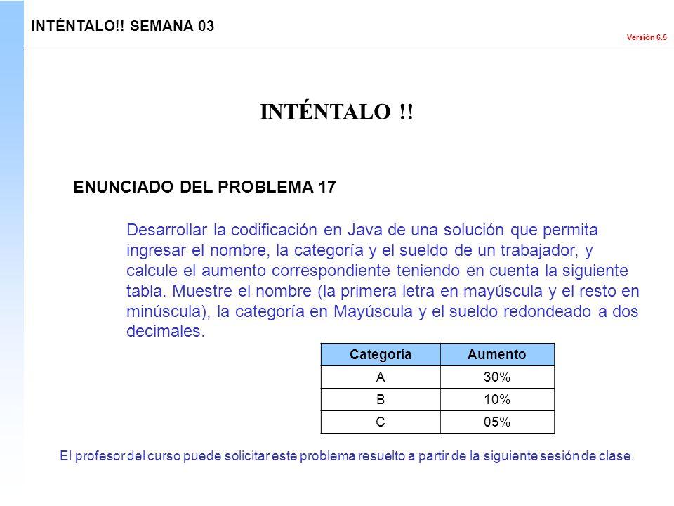 INTÉNTALO !! ENUNCIADO DEL PROBLEMA 17