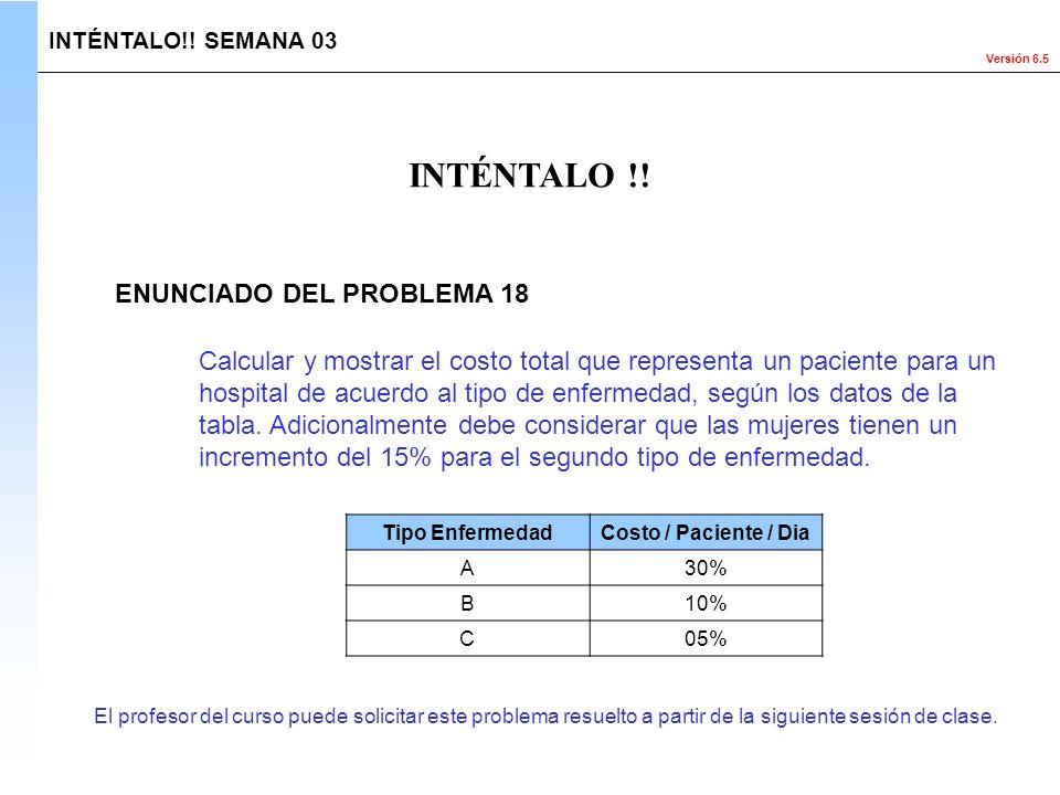 INTÉNTALO !! ENUNCIADO DEL PROBLEMA 18