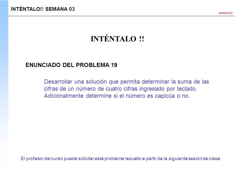 INTÉNTALO !! ENUNCIADO DEL PROBLEMA 19
