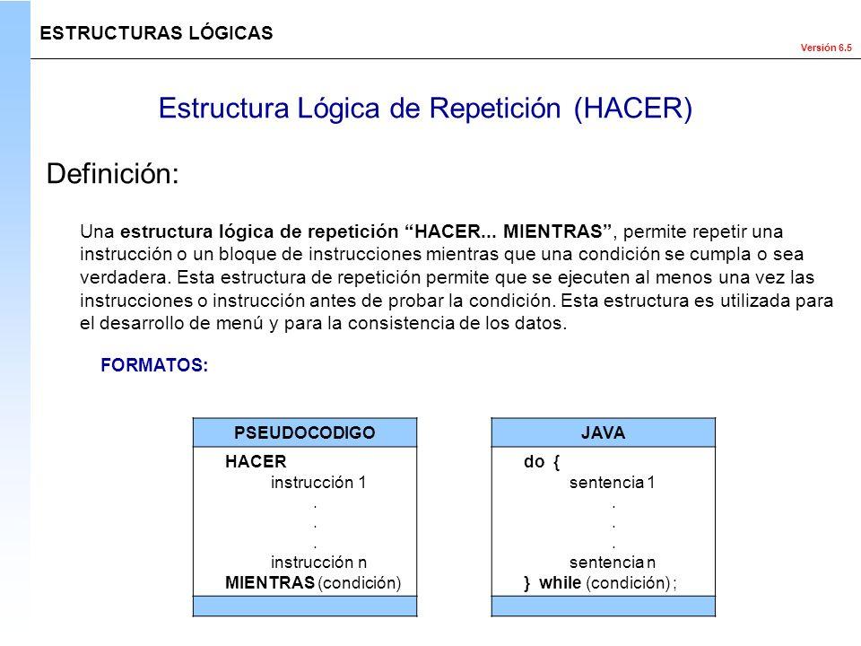 Estructura Lógica de Repetición (HACER)