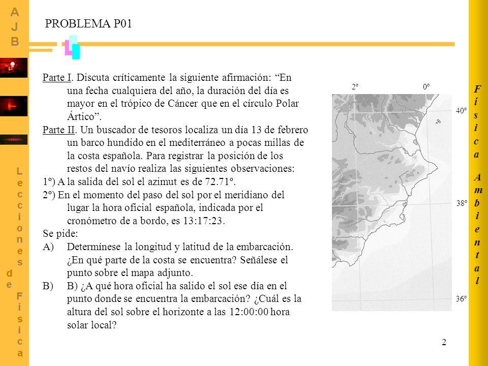Ambiental Física. PROBLEMA P01.