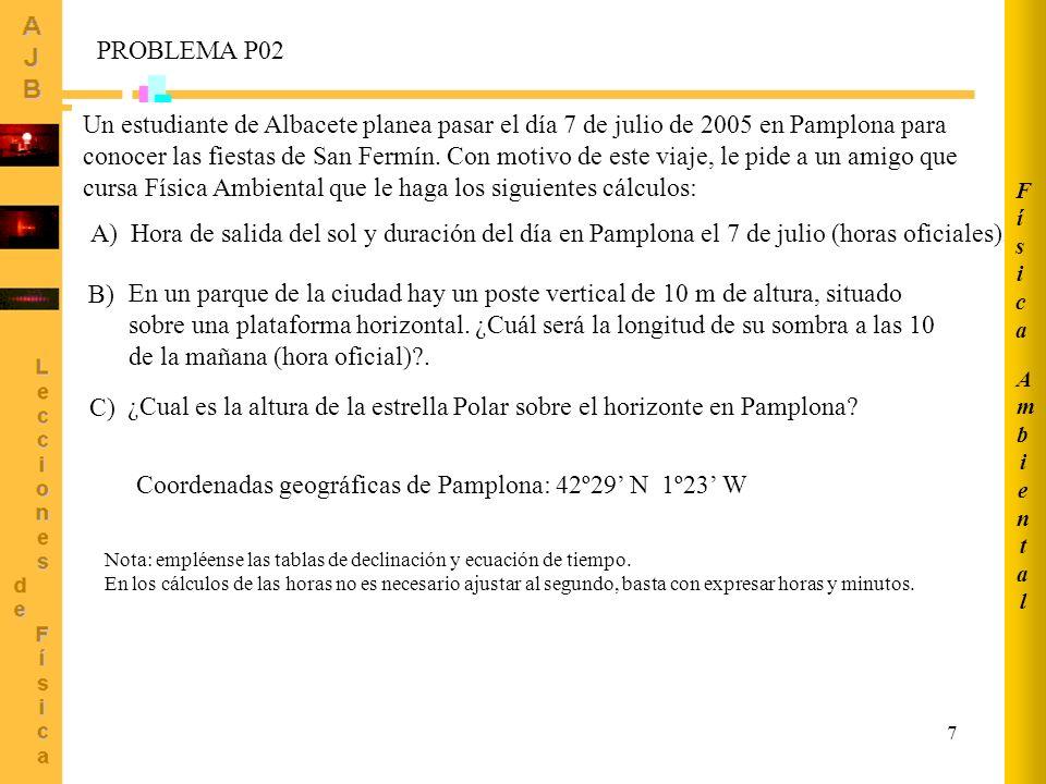 Coordenadas geográficas de Pamplona: 42º29' N 1º23' W