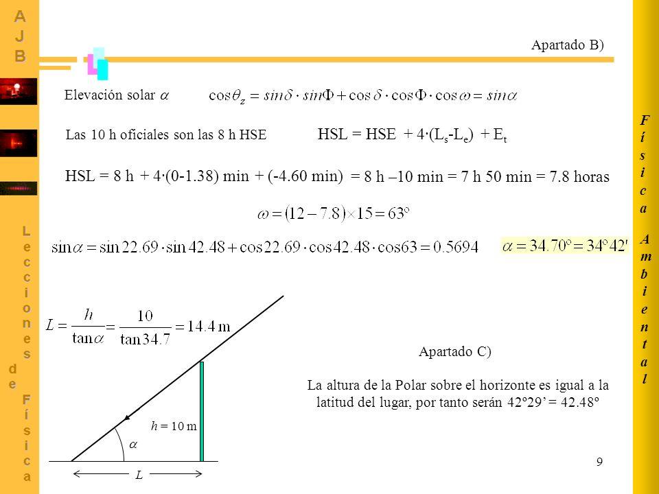 HSL = HSE + 4·(Ls-Le) + Et HSL = 8 h + 4·(0-1.38) min + (-4.60 min)