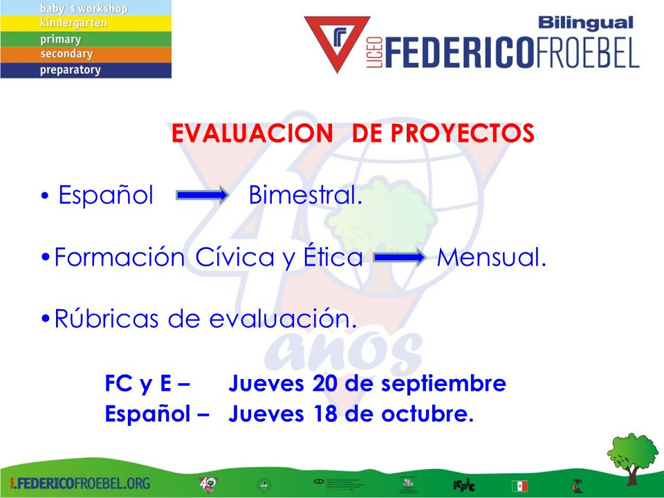 Formación Cívica y Ética Mensual. Rúbricas de evaluación.
