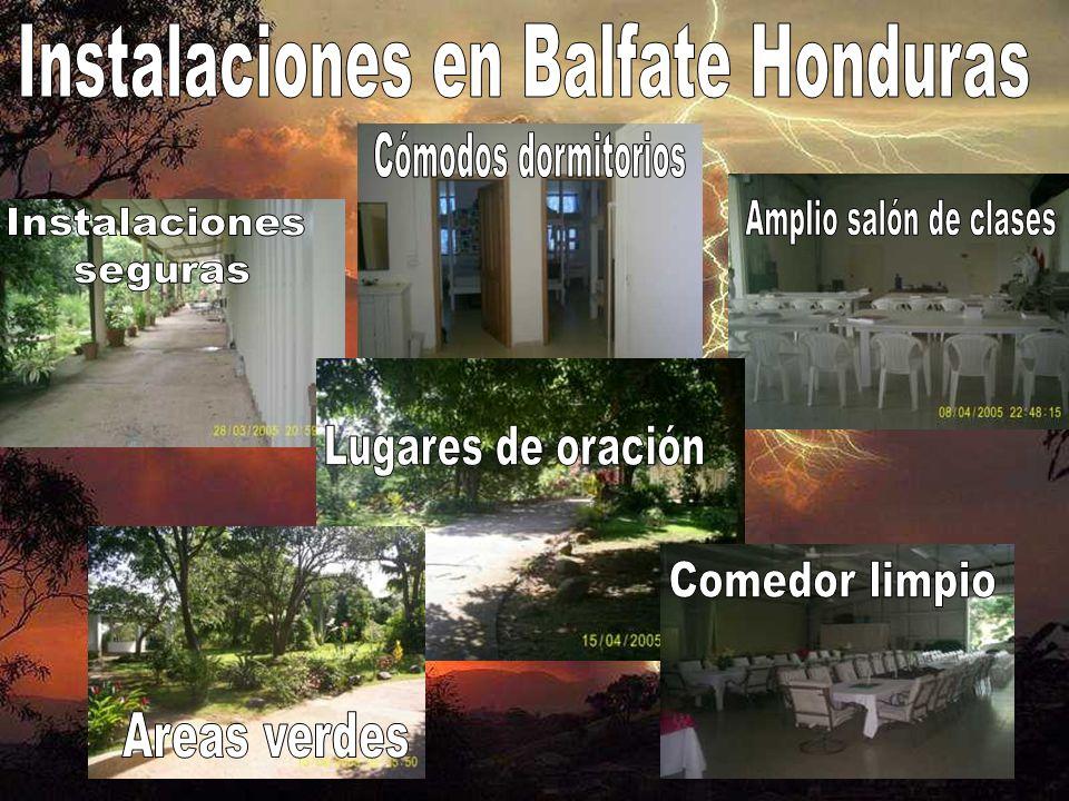 Instalaciones en Balfate Honduras