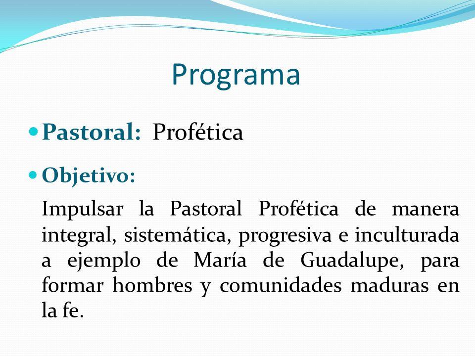 Programa Pastoral: Profética
