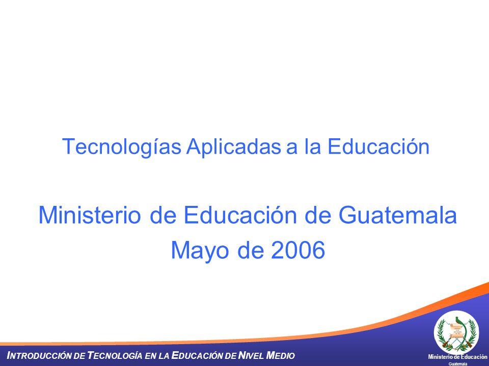Tecnologías Aplicadas a la Educación