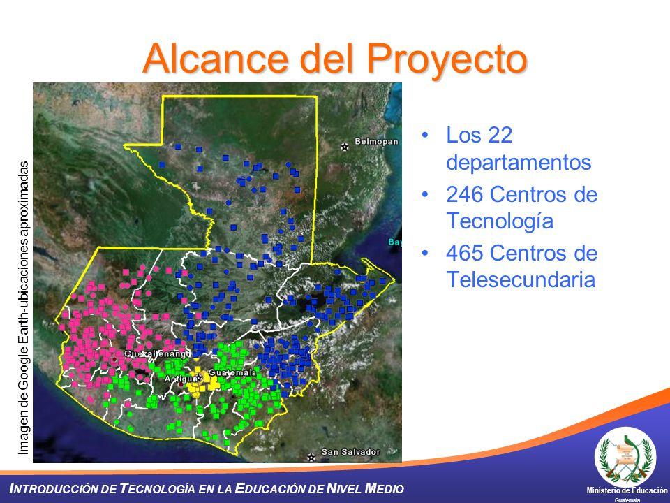 Alcance del Proyecto Los 22 departamentos 246 Centros de Tecnología