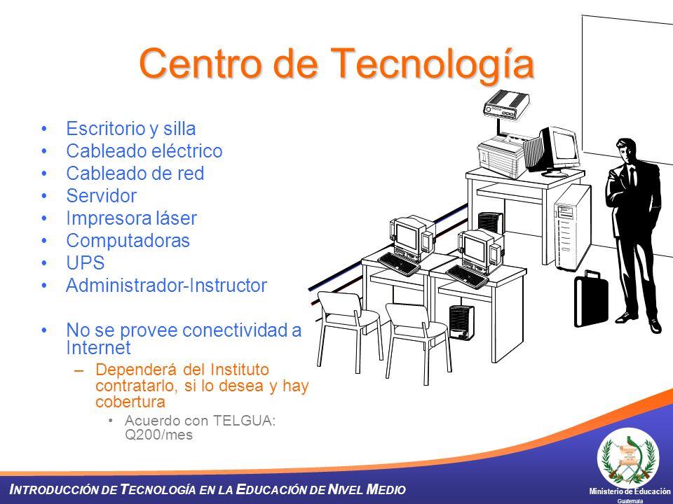 Centro de Tecnología Escritorio y silla Cableado eléctrico