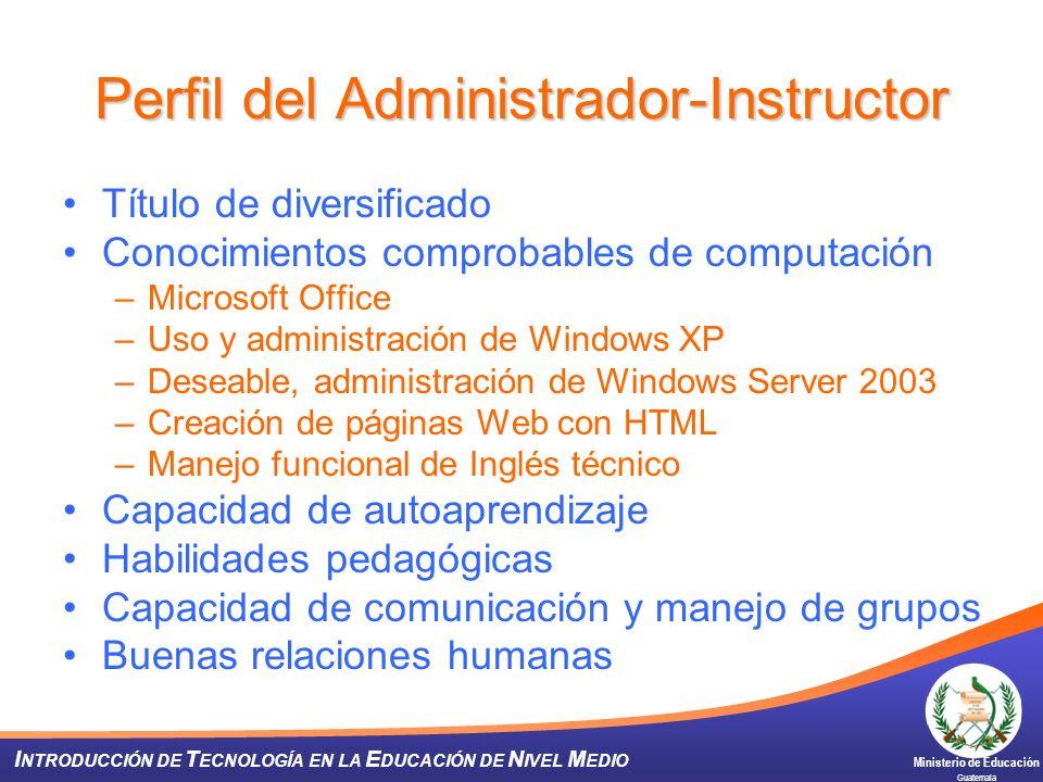 Perfil del Administrador-Instructor