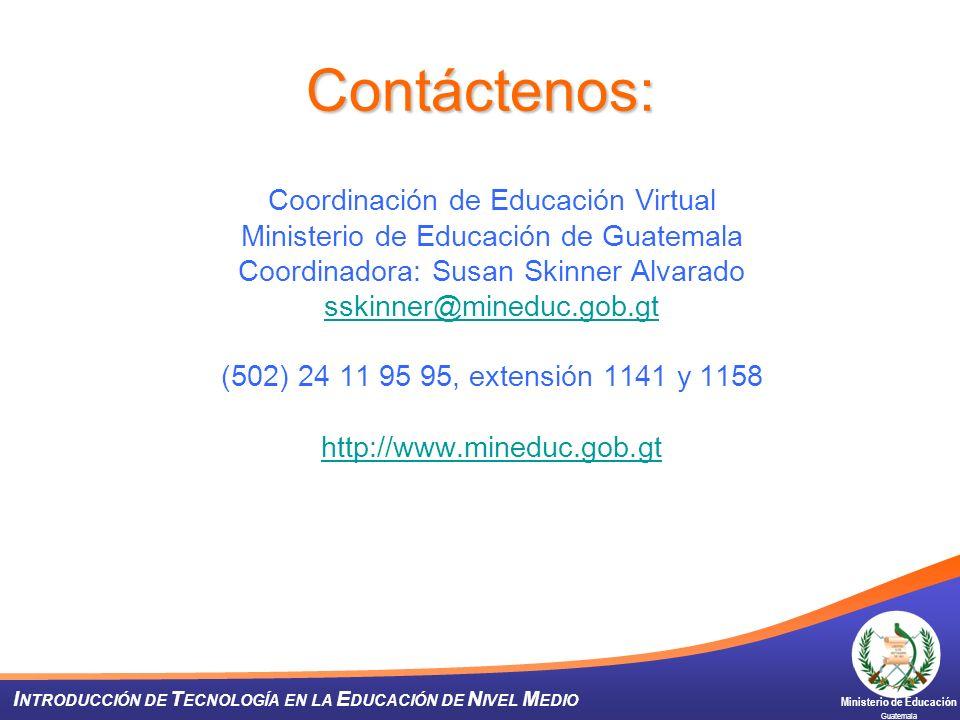 Contáctenos: Coordinación de Educación Virtual