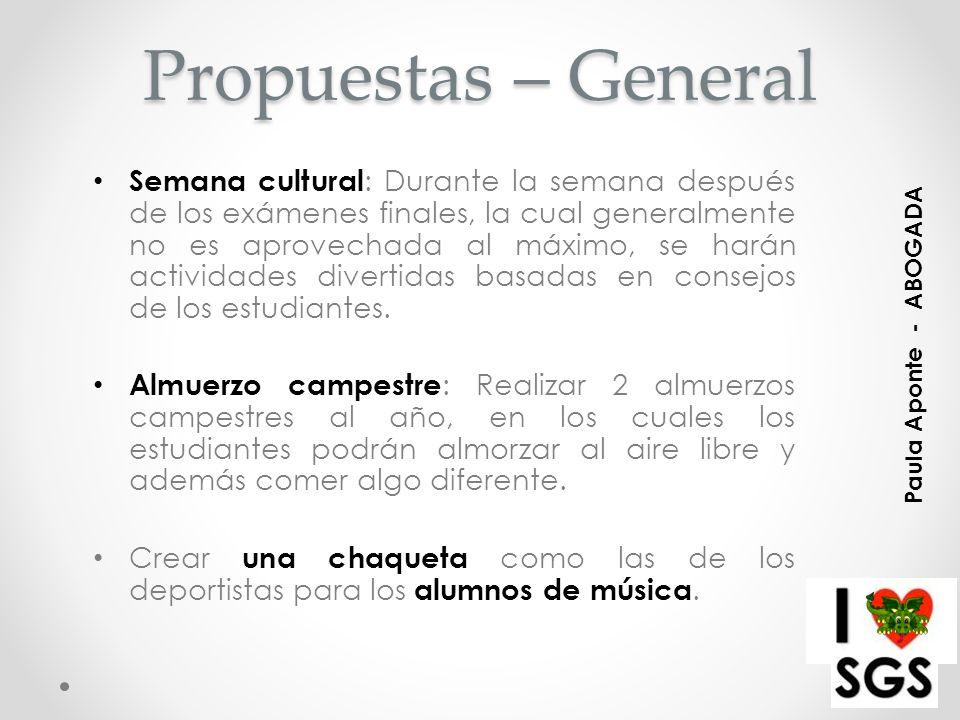 Propuestas – General
