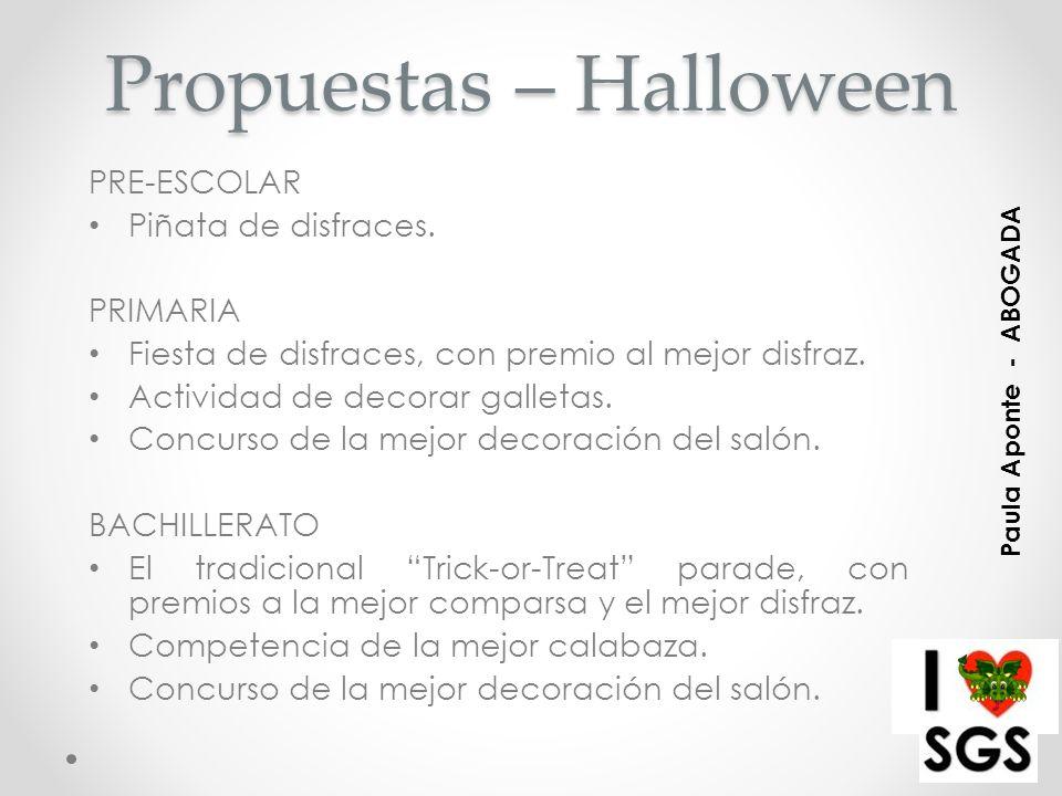 Propuestas – Halloween