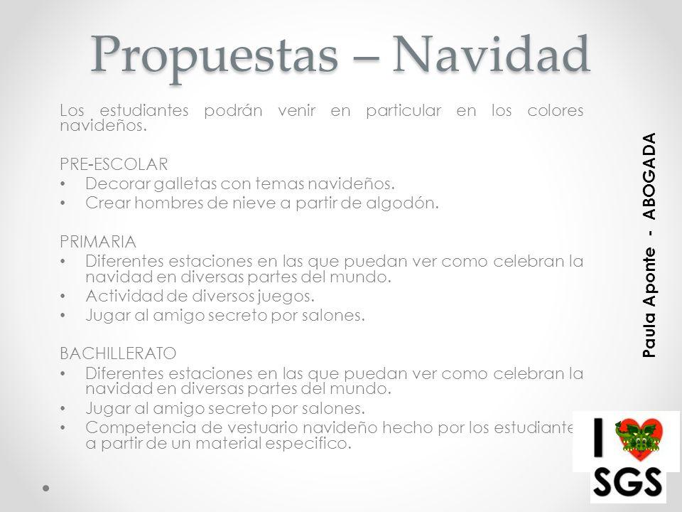 Propuestas – Navidad Paula Aponte - ABOGADA
