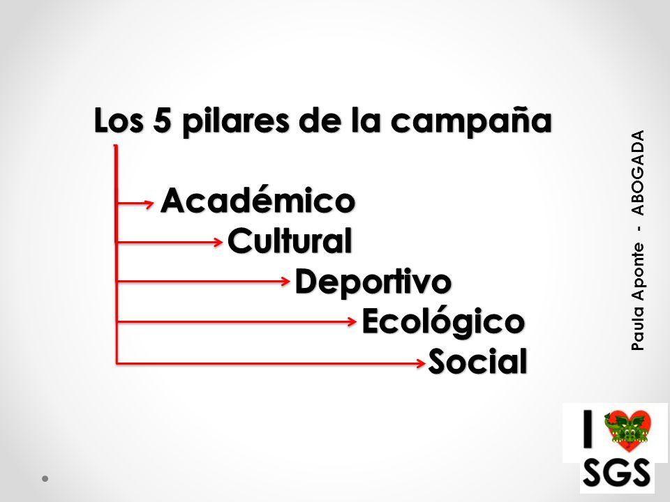 Los 5 pilares de la campaña Académico Cultural Deportivo Ecológico
