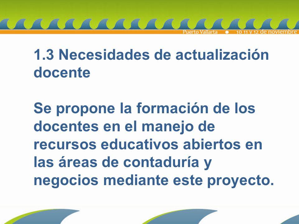 1.3 Necesidades de actualización docente
