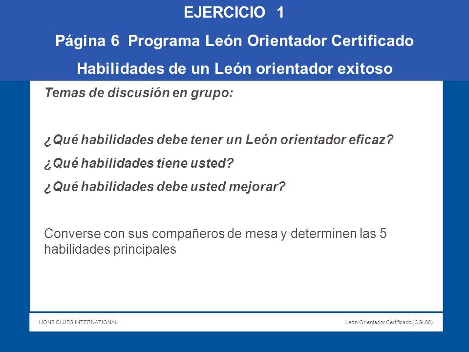 Página 6 Programa León Orientador Certificado