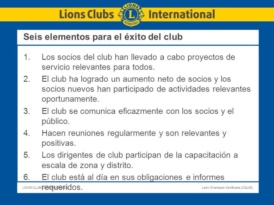Seis elementos para el éxito del club