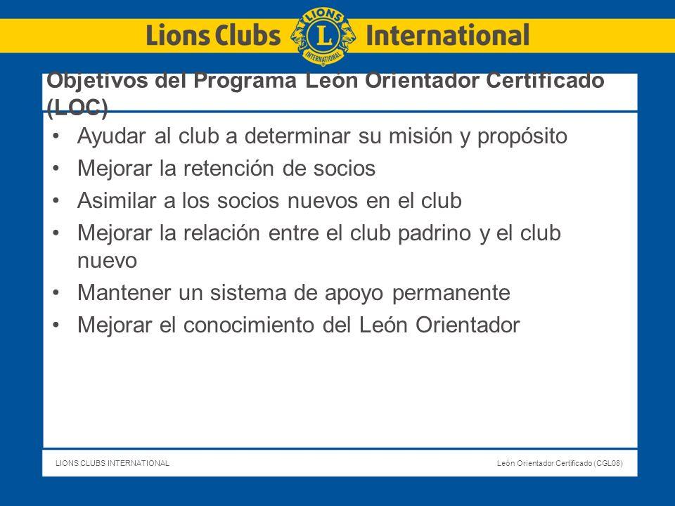 Objetivos del Programa León Orientador Certificado (LOC)