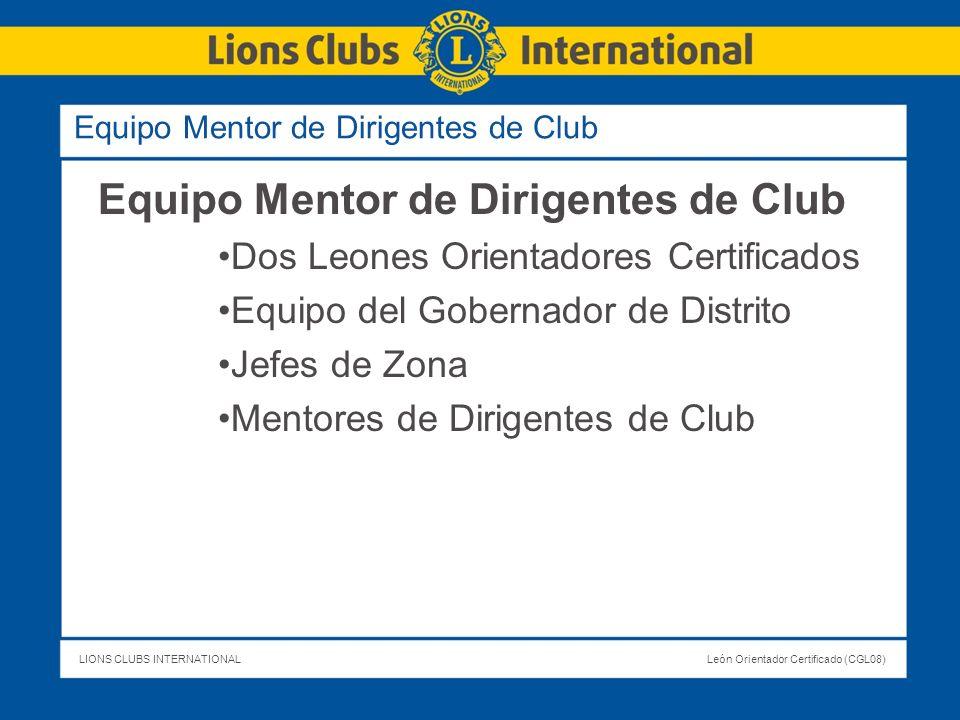 Equipo Mentor de Dirigentes de Club