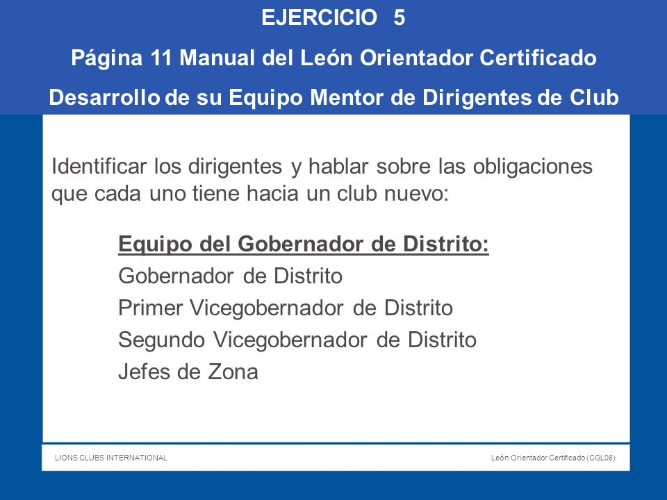 Página 11 Manual del León Orientador Certificado