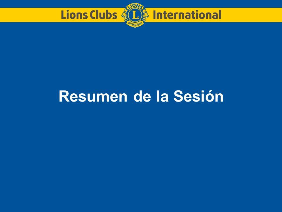 Resumen de la Sesión