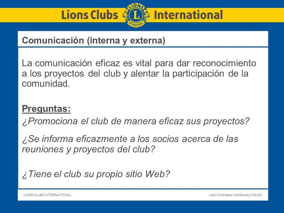 ¿Promociona el club de manera eficaz sus proyectos