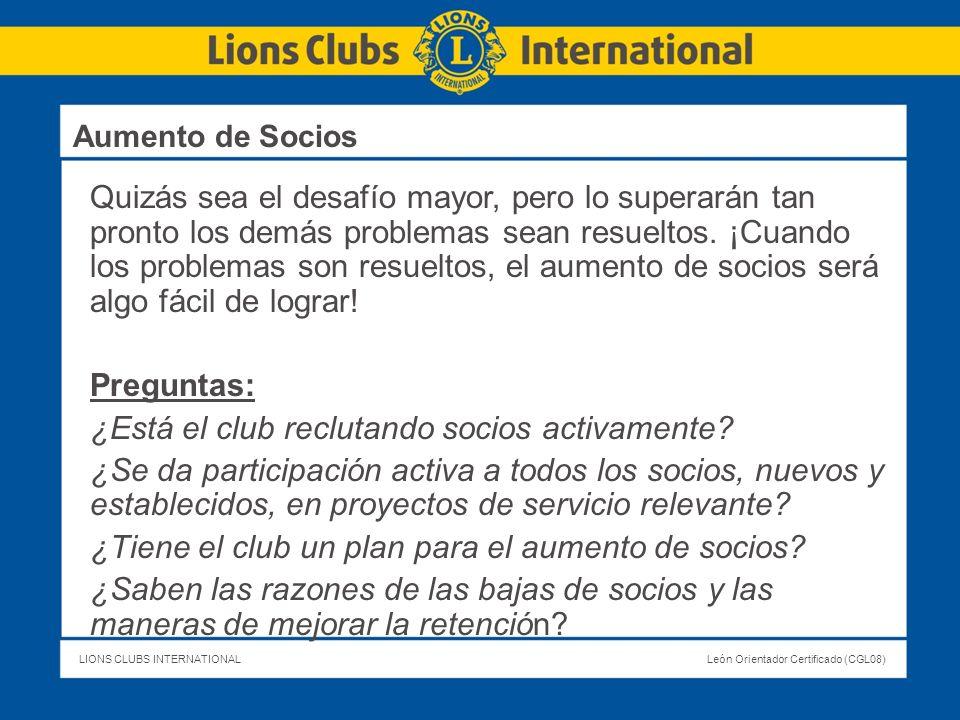 ¿Está el club reclutando socios activamente
