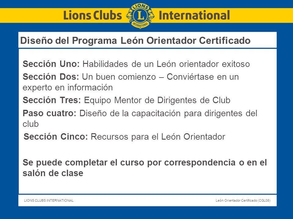 Diseño del Programa León Orientador Certificado