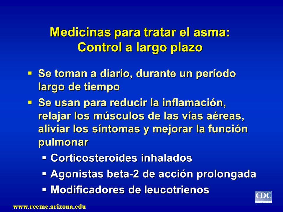 Medicinas para tratar el asma: Control a largo plazo