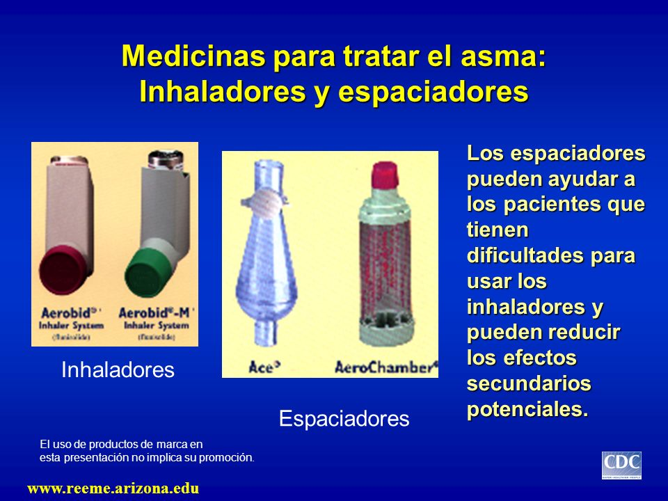 Medicinas para tratar el asma: Inhaladores y espaciadores