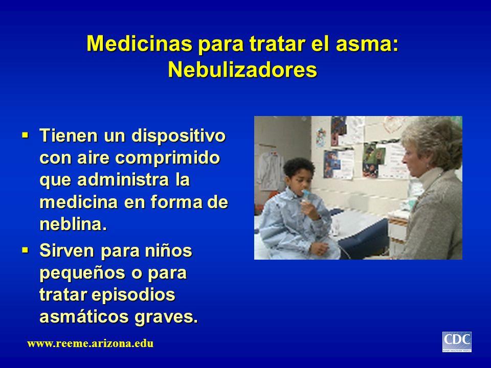 Medicinas para tratar el asma: Nebulizadores