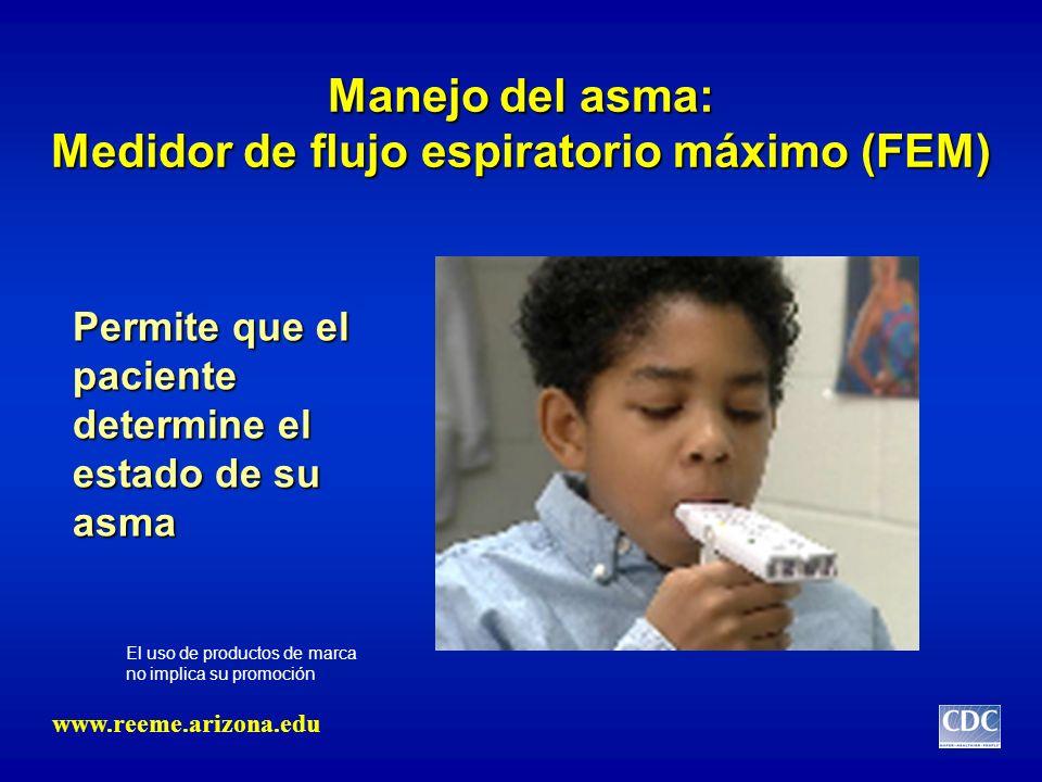 Manejo del asma: Medidor de flujo espiratorio máximo (FEM)