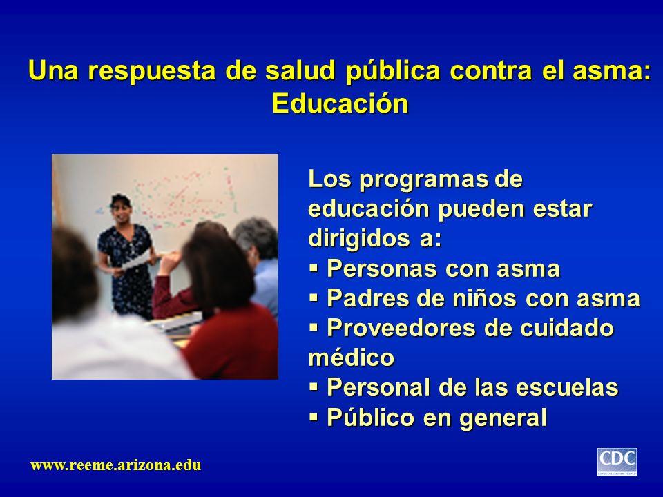 Una respuesta de salud pública contra el asma: Educación