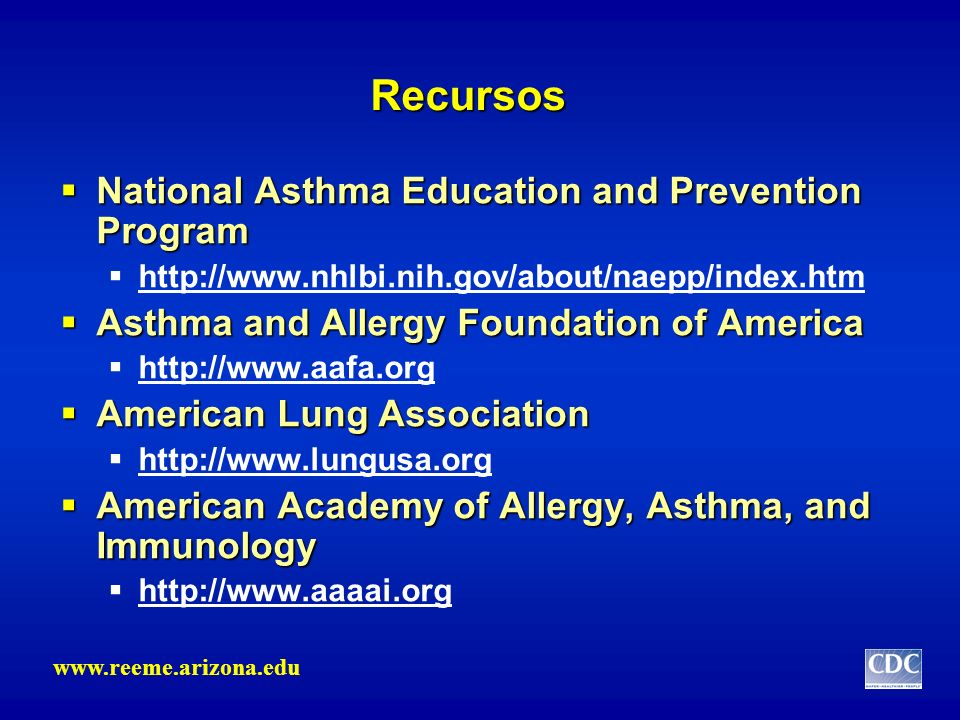 Recursos National Asthma Education and Prevention Program