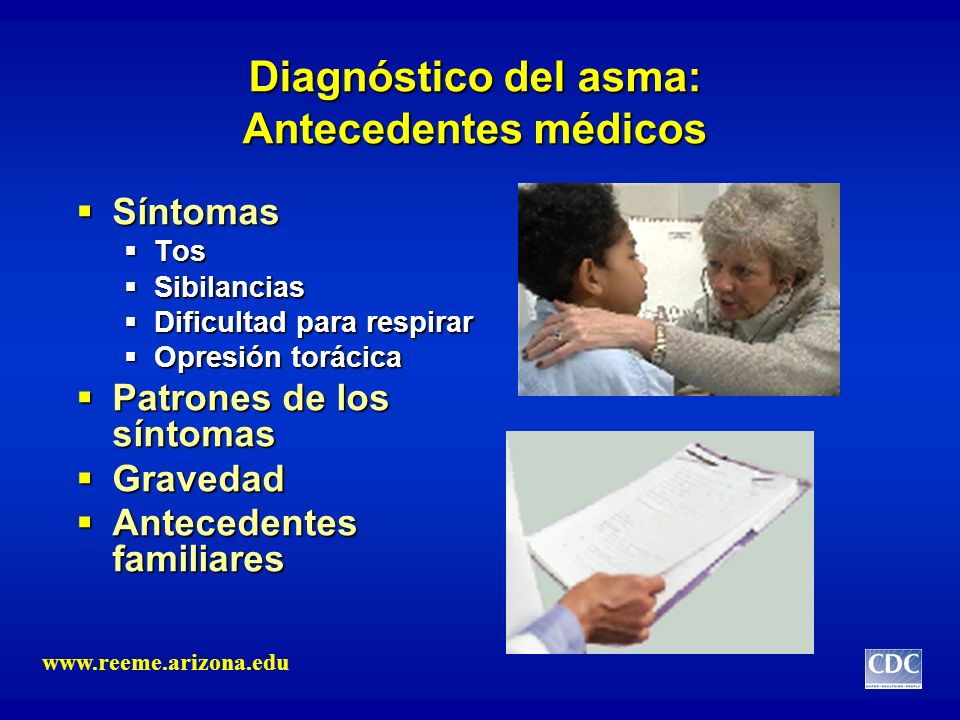 Diagnóstico del asma: Antecedentes médicos