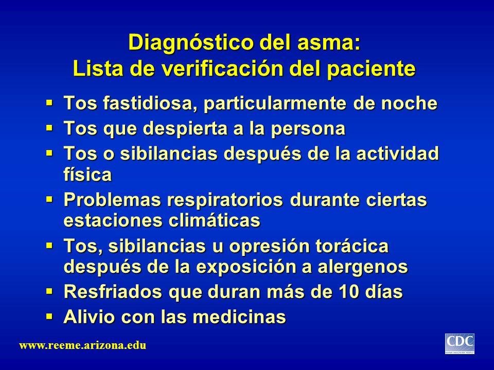Diagnóstico del asma: Lista de verificación del paciente