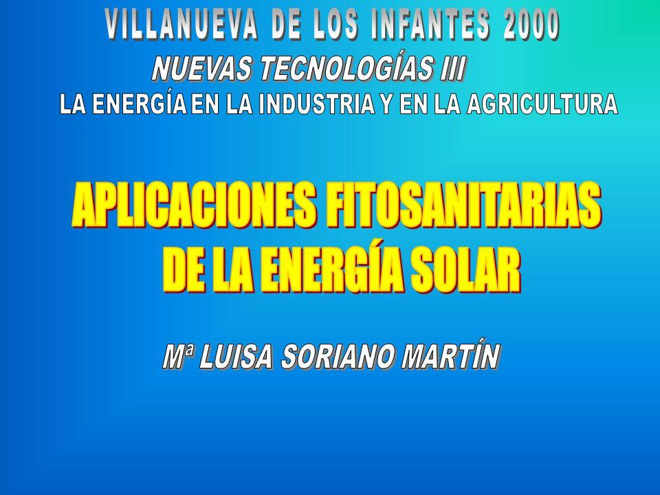 APLICACIONES FITOSANITARIAS DE LA ENERGÍA SOLAR