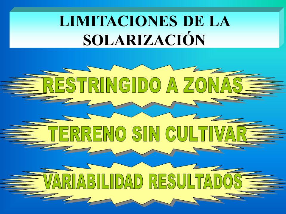 LIMITACIONES DE LA SOLARIZACIÓN